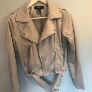 Forever 21 Faux suede Motorcycle jacket
